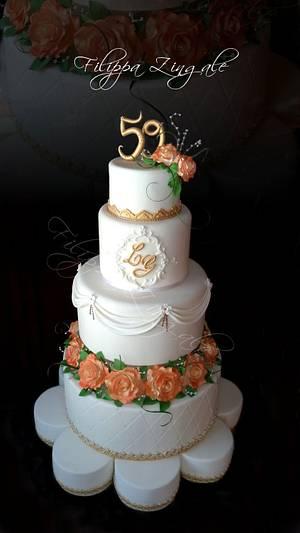 The roses's splendor - Cake by filippa zingale