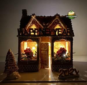 Gingerbread Cookie House - Cake by Derin Tatlar