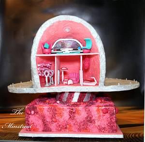 Cakerbuddies miniature dollhouse collab—Galactic dollship - Cake by Theminstreat