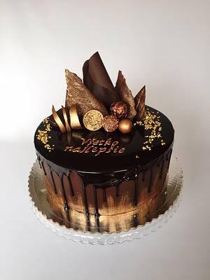 Chocolate drip cake - Cake by Layla A