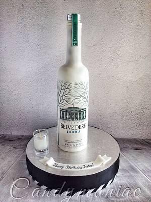 Belvedere vodka bottle - Cake by Mania M. - CandymaniaC