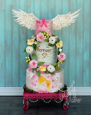 Breast cancer awareness cake - Cake by Shannon Davie