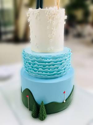 Golfistas!! - Cake by Mariano Camba
