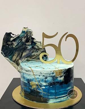 Buttercream blues - Cake by TheCakeTalk
