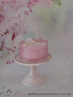 Flower cakelace cake - Cake by Louise