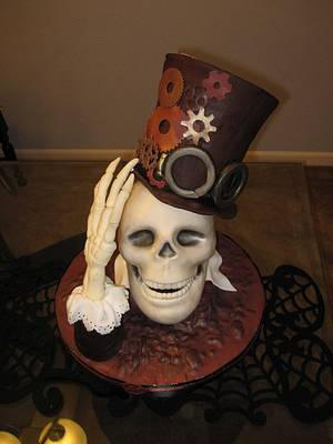 Ghost of Steampunk past - Cake by Olga