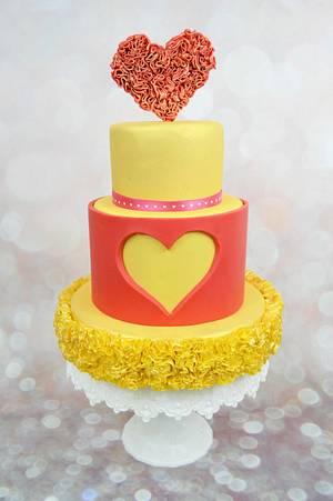 RUFFLES HEART CAKE - Cake by blogplanetegateau