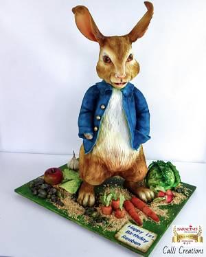 Peter Rabbit birthday - Cake by Calli Creations