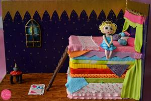 PDCA Caker Buddies Childrens Bedtime Storybook Collaboration - Princess and the Pea - Cake by Archita Saxena