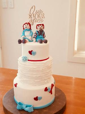 Raggedy Anne and Andy - Cake by Cakesters