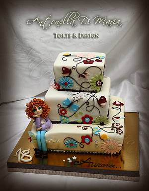 Flower butterfly cake - Cake by Antonella Di Maria