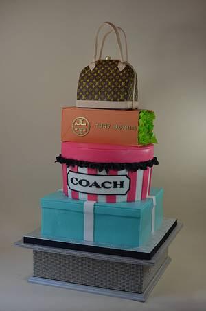Fashion and handbag cake - Cake by Jenniffer White
