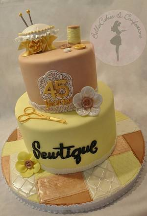 Business Anniversary Cake  - Cake by BellaCakes & Confections