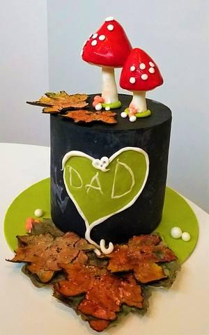 Chalkboard cake for Daddy 💖  - Cake by Clara