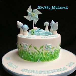 Woodland theme Christening cake - Cake by Kazza