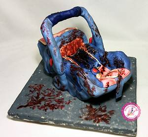 """""""Judith's Car Seat"""" (Baking Dead Collaboration, The Walking Dead) - Cake by Becca's Edible Art"""