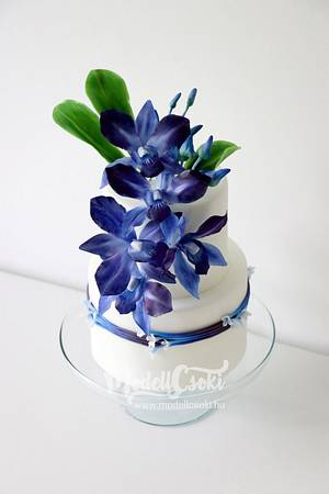 Blue orchid cake  - Cake by Agnes Havan-tortadecor.hu