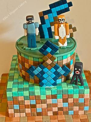 All squared out with minecraft  - Cake by Ellie @ Ellie's Elegant Cakery