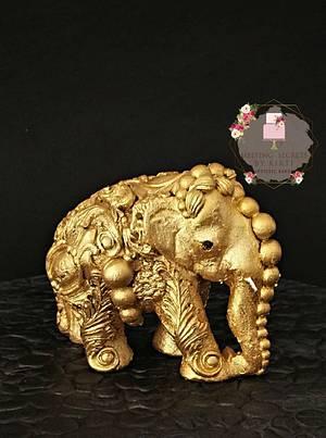 "Beautiful Sri Lanka - ""The Golden Grand Elephant"" It's all CAKE!!  - Cake by Melting Secrets by Kirti"