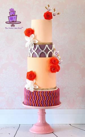 MODERN DECOR Inspired Wedding Cake for Cake Masters Magazine - Cake by Violet - The Violet Cake Shop™