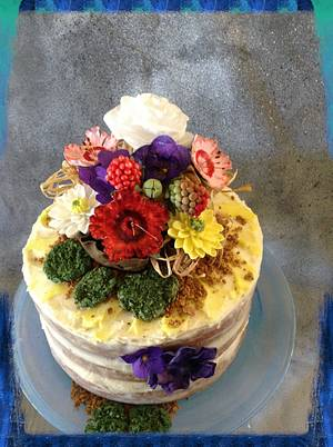 """Nearly Naked Cake - Cake by June (""""Clarky's Cakes"""")"""