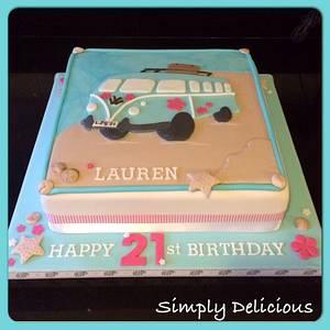 Camper van  - Cake by Jane-Simply Delicious