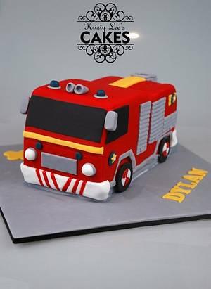 Fireman Sam Fire Engine Cake - Cake by Kristy How