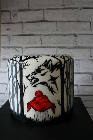 """""""Little Red Ridinghood"""" from the """"Twisted Fairy Tale Collobaration"""" - Cake by SugarJulesDorchester"""