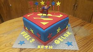 Superman Logo Cake - Cake by Rencia's Creations