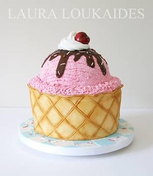 Giant Ice Cream Cake  - Cake by Laura Loukaides