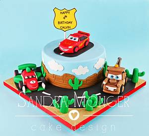 Cars Birthday Cake - Cake by Sandra Monger