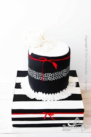 Black white cake - Cake by Tortolandija