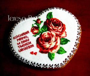 Róże dla mamy - Cake by Teresa Pękul