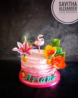 Flamingo cake - Cake by Savitha Alexander