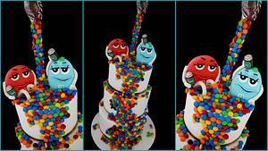 M&M 21st Birthday cake - Cake by Veronika
