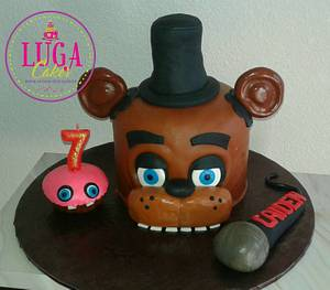 Five Nights at Freddys cake - Cake by Luga Cakes