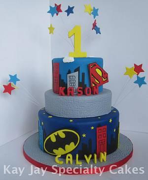 Superman vs Batman - Cake by Kimberley Jemmott