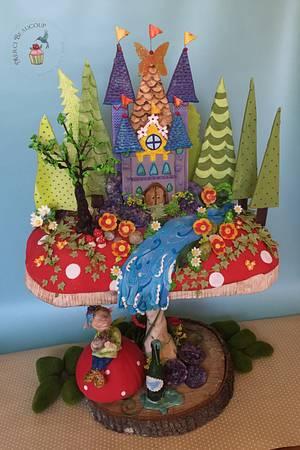 Fantasy Fungi - Cake by Reva Alexander-Hawk