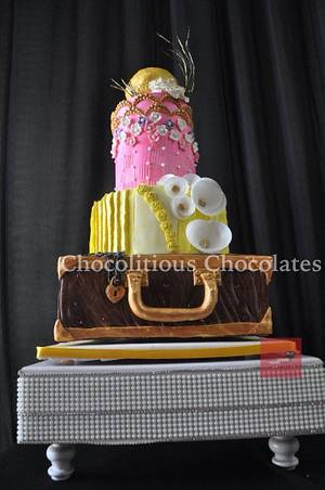 Vintage Trunk  - Cake by Chocolitious Chocolates ( pooja)