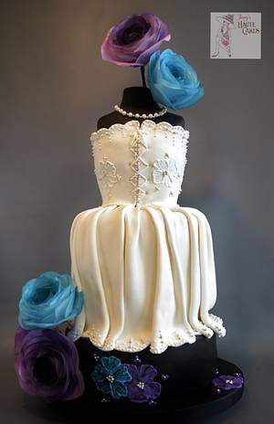 Wedding Dress - Cake by Jenny Kennedy Jenny's Haute Cakes