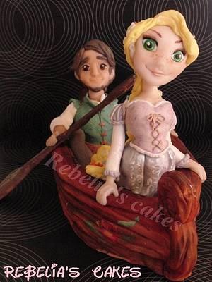 Rapunzel e Flynn - Cake by Teresa Russo