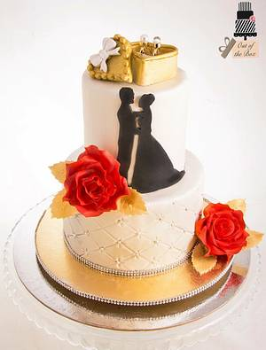 Engagement Cake - Cake by Out of the Box