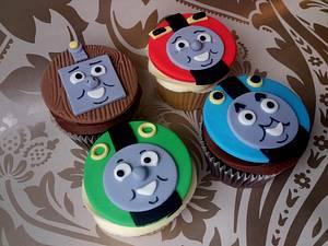 Thomas the Tank cupcakes - Cake by Dollybird Bakes