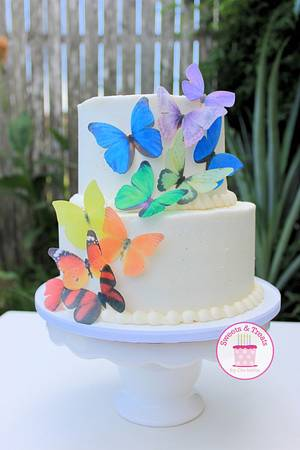 Butterfly Cake - Cake by Sweets and Treats by Christina