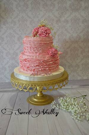Mother's day Cake (Ruffles Cake ) - Cake by Nana Ahmed