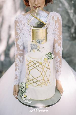 My geometry wedding cake 1 - Cake by SWEET architect