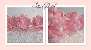 Sugar Open Peonies - Cake by Mary @ SugaDust