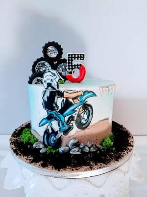 Biker cake - Cake by alenascakes