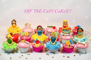 Disney Princess Cupcakes - Cake by OfF ThE CuFf CaKeS!!