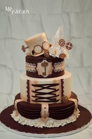Steampunk wedding cake - Cake by Mé Gâteaux
